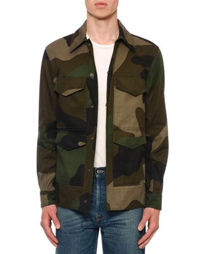 Men's Camo Army Field Jacket