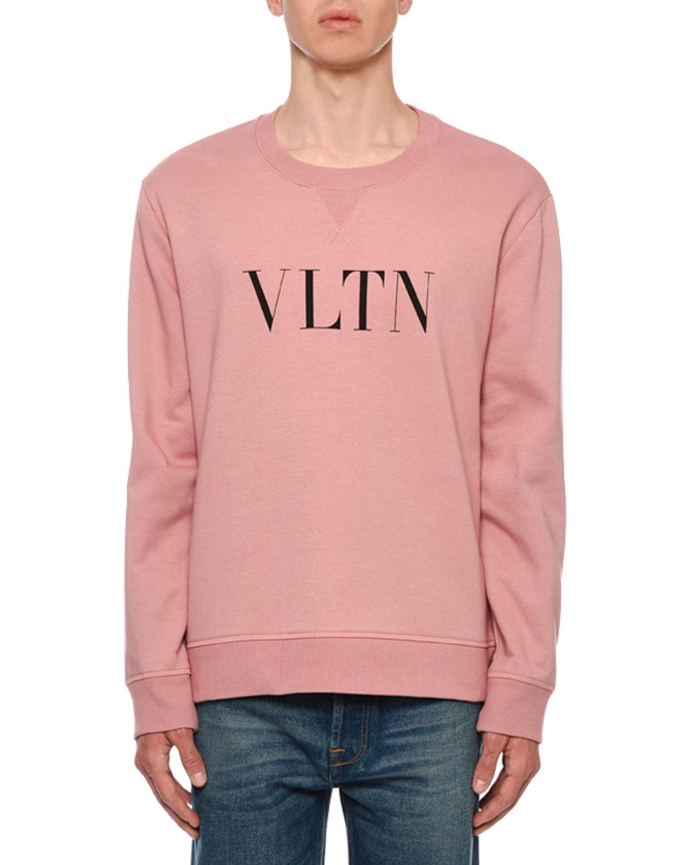 a9e0a66d96b0 Valentino Men s VLTN Logo Typographic Sweatshirt