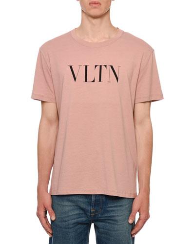 Men's VLTN Logo Typographic T-Shirt