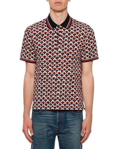 Men's Retro Logo Scales Polo Shirt