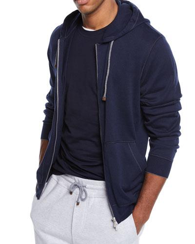 Men's Full Zip Cotton Hoodie