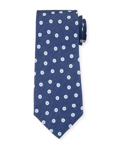 Camargue Small-Circle Tie, Blue