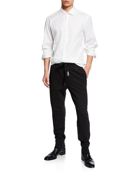 a2e3e56ed34bc Dolce   Gabbana Men s Solid Cotton Sweatpants In Black