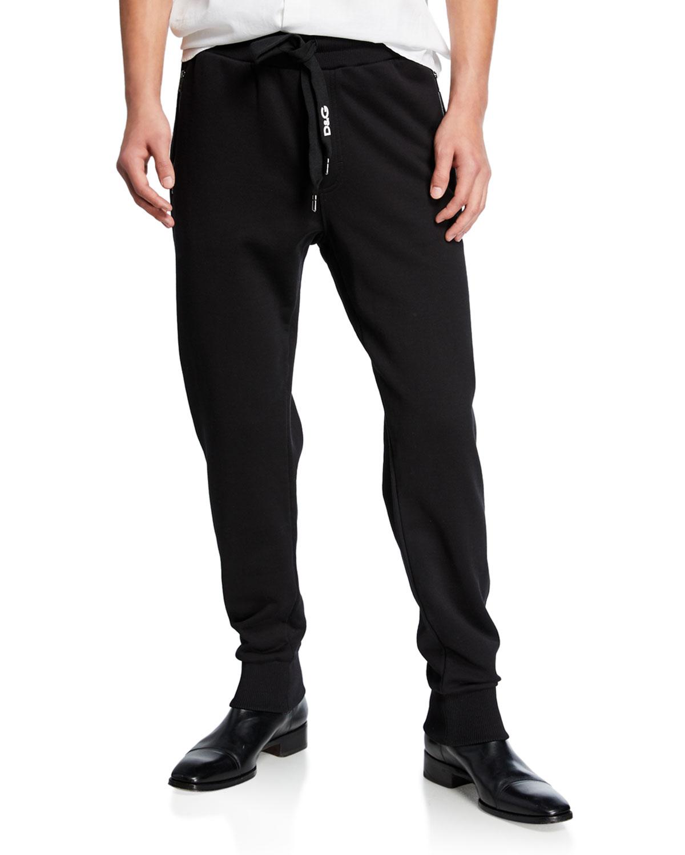ab98ed7764263 Dolce   Gabbana Men s Solid Cotton Sweatpants