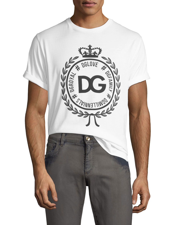 1eb3730edfab Dolce   Gabbana Men s Crown Logo Crewneck T-Shirt