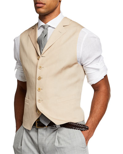 Men's Single Breasted Gilt Vest