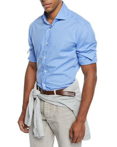 Men's Solid Dress Shirt