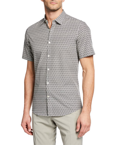 Men's Gancini Short-Sleeve Shirt