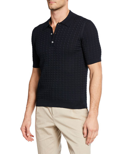 Men's Gancini Knit Polo Shirt