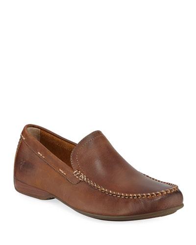 Men's Lewis Leather Slip-On Venetian Loafers