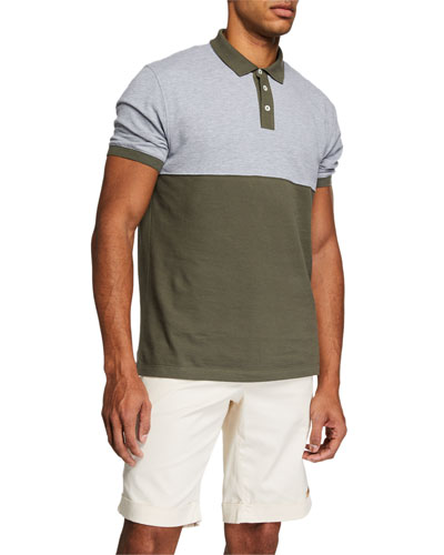 Men's Colorblock Short-Sleeve Polo Shirt