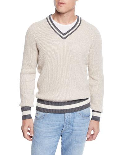 Men's Donegal V-Neck Sweater