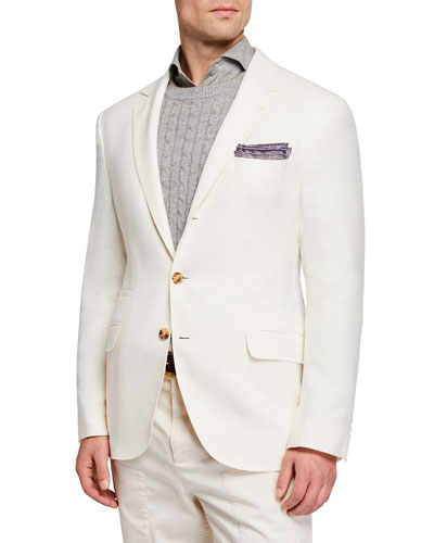 Men's Hopsack Deconstructed Sport Jacket