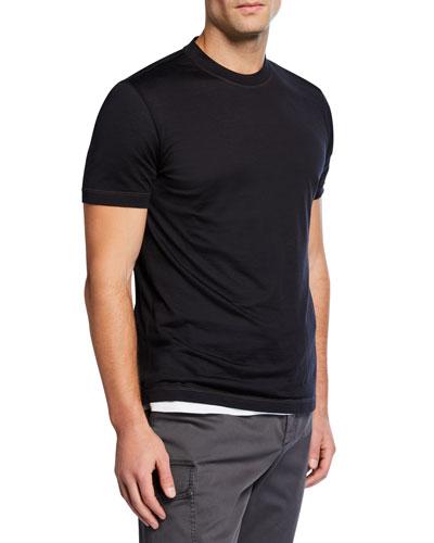 Men's Silk/Cotton Crewneck T-Shirt