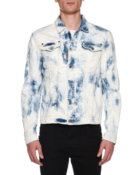 Men's Dan Bleach Wash Jean Jacket