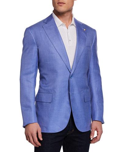 Men's Solid Sport Coat Jacket