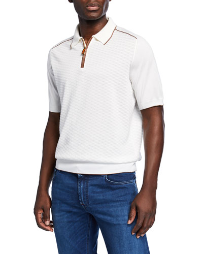 Men's Polo Shirt with Crocodile Trim