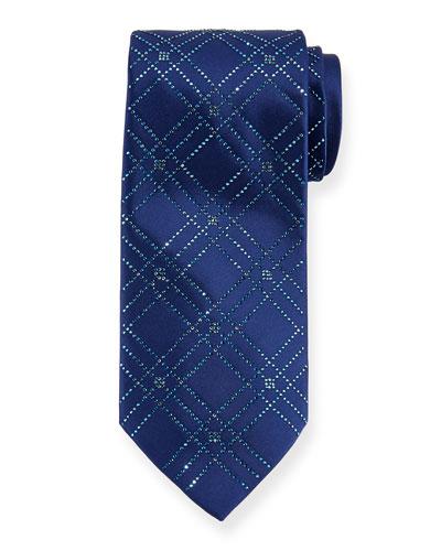 Men's Swarovski® Crystal Lattice Silk Tie