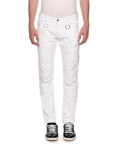 Men's Slim Ripped Jeans