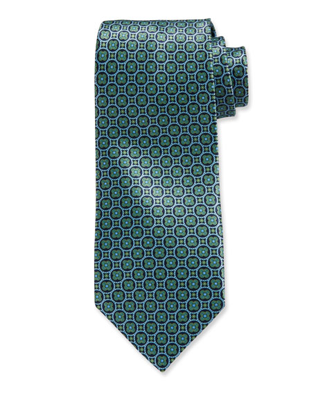 Stefano Ricci Large-Medallion Silk Tie