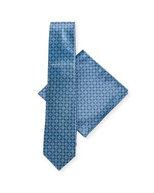 75a0c41ecc2 Stefano Ricci Large-Medallion Silk Tie   Pocket Square Set