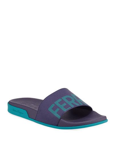 Men's Amos Leather Slide Sandals