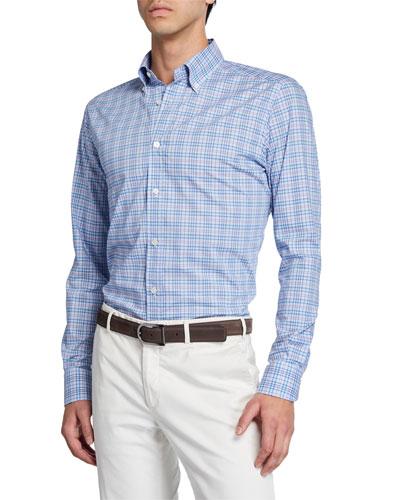 Men's Two-Tone Plaid Sport Shirt