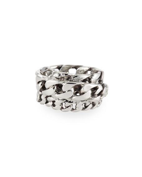 Emanuele Bicocchi Men's Spiral Curb Chain Ring