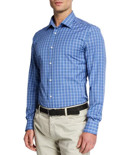 Men's Tonal Plaid Sport Shirt