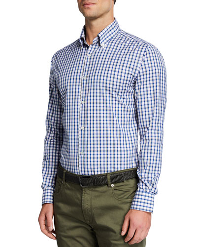 Men's Tricolor Plaid Sport Shirt