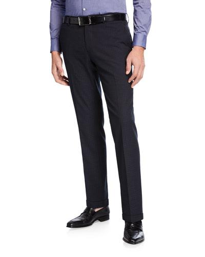 Men's Casual Knit-Detail Pants