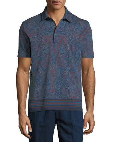 Men's Graphic Print Polo Shirt
