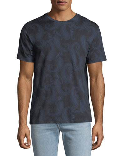 Men's Paisley-Print Jersey T-Shirt