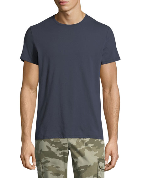 Men'S Jersey Crewneck T-Shirt in Midnight