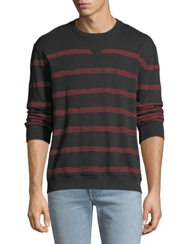 Men's Broken Striped Sweatshirt