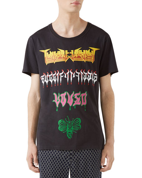 Gucci Men's Loved Medley Graphic T-Shirt