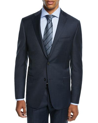 Men's Two-Piece Tasmanian Sharkskin Suit
