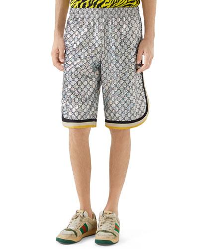 Men's Interlocking GG Basketball Shorts