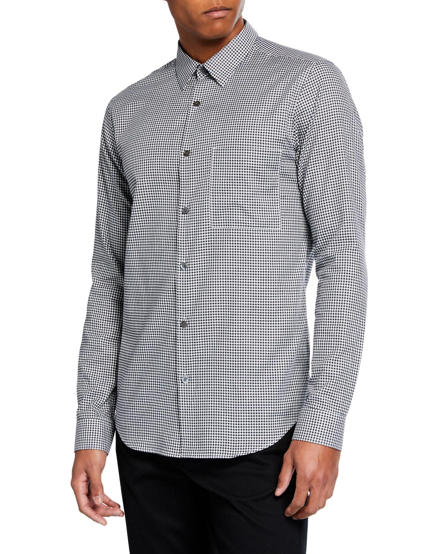 81ed03164 Theory Men's Brushed Gingham Irving Long-Sleeve Sport Shirt   Neiman ...