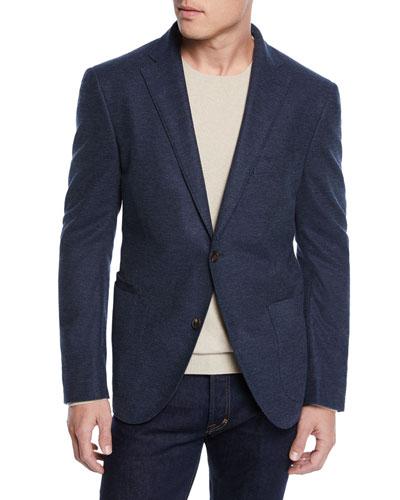Men's Textured Solid Unconstructed Blazer