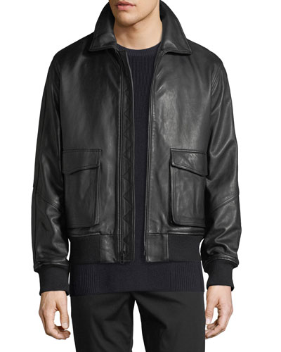Men's Leather Aviator Jacket