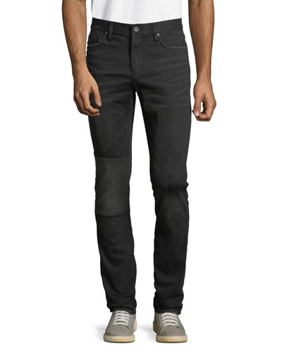 Men's Wight Fit Reversed Self Fabric Jeans
