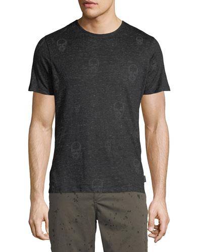 Men's Allover Skull Print T-Shirt