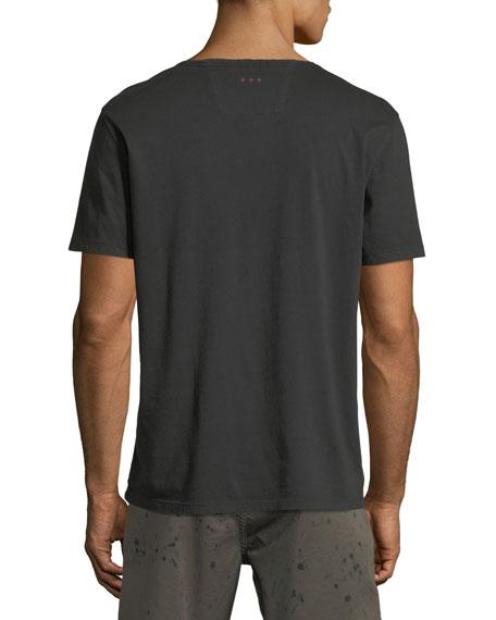 John Varvatos Star USA Men's Peace Hand Embroidered T-Shirt