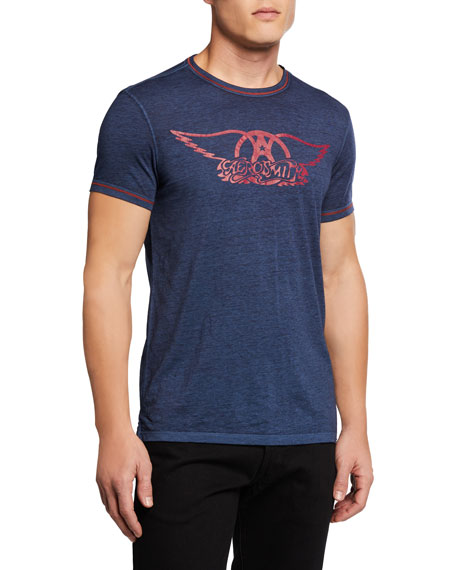 John Varvatos Star USA Men's Aerosmith Logo T-Shirt