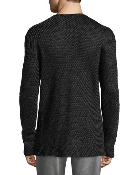 John Varvatos Star USA Men's Lattice Stitch Shirt