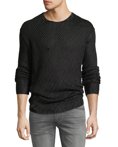 Men's Lattice Stitch Shirt