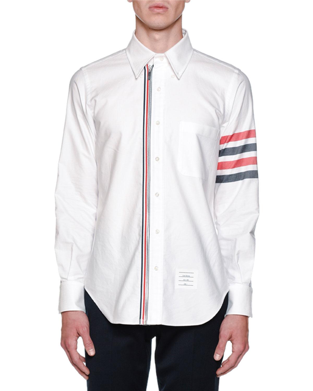 45cf6392e4df Thom BrowneMen s Zip Front Long-Sleeve Shirt.  590.00. Free Shipping ...
