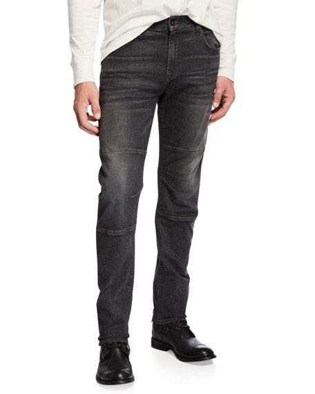 7 for all mankind Men's Adrien Paneled Straight-Leg