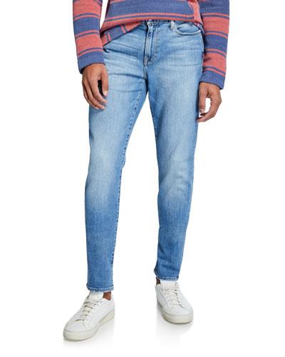Men's L'Homme Slim Light-Wash Jeans